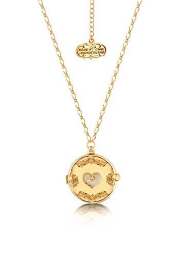 Disney Couture-Alice nel paese delle meraviglie orologio-Collana Placcato in oro giallo