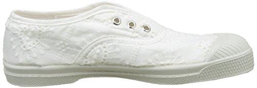 Bensimon Mädchen Tennis Elly Broderie Anglaise Flach Weiß (Weiß)