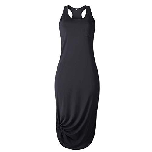 BoburyL Sommer-Lange Kleid Normallack-Kleid mit Rüschen Seite schlitzt Unregelmäßige Stil - Seite Rüschen