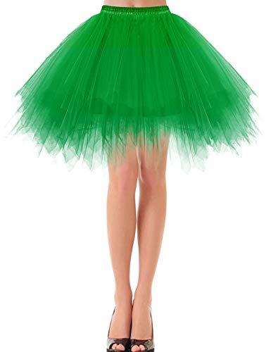 Tanz Kostüm Green - bbonlinedress Kurz Retro Petticoat Rock Ballett Blase 50er Tutu Unterrock Green S