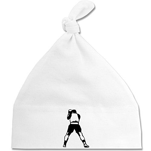 Sport Baby - Boxen - Unisize - Weiß - BZ15 - Baby Mütze mit einfachem Knoten als...