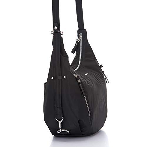 PacSafe Stylsafe Anti-Theft Convertible Crossbody Bag Umhängetasche, 38 cm, 10 liters, Schwarz (Black 100)