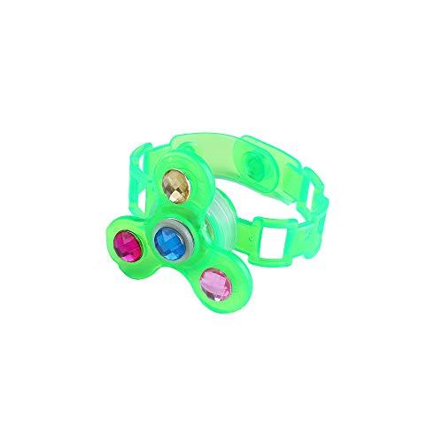 Nerd Band Kostüm - Skryo-Spielzeug Kinder leuchtende Handgelenk Band manuell rotierenden weichen Kunststoff-Flash-Gyro-Armband (GN)