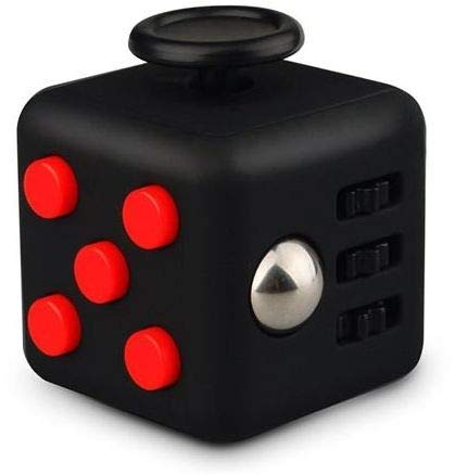 WPAnti Stress Fidget Cube, Reduces Stress & Anxiety for Children and Adults, Ideal for ADHD, ADD, OCD and Autism (Colour Black)