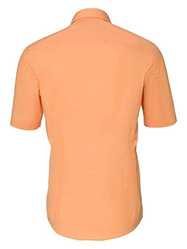 Venti Uomini Camicia per Ufficio Anche Taglie Grandi 100% Cotone Arancione