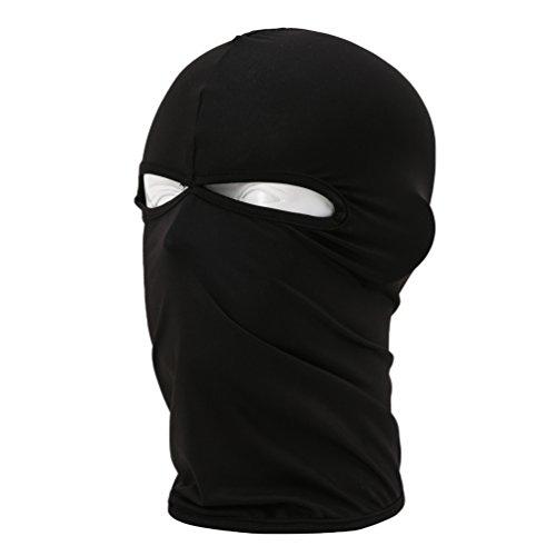 YiJee Sunproof Masque de Cyclisme 2 Trous Séchage Rapide Respirant Tour de Cou Outdoor Noir