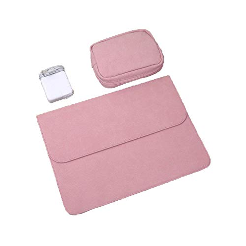 PU Laptop Sleeve Tasche für Xiaomi für MacBook Pro 13 Case Air 11 12 Retina 15 Touch Bar Cover Set Pink New 13 Inch A1989 (11 Macbook Case Air Set)