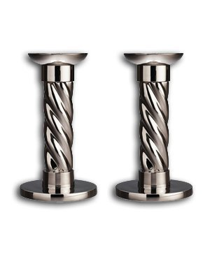 L'Objet Carousel Candlesticks, Set of 2, Small by L'Objet