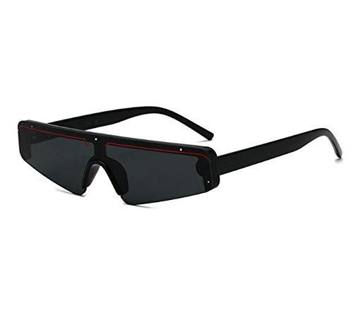 Preisvergleich Produktbild Kleine Quadratische Sonnenbrille Schwarzer Rahmen Rechteckige Sonnenschirme Im Freien Schattenstrand Brille A