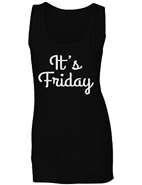 Es viernes en la novedad negra camiseta sin mangas mujer gg90ft