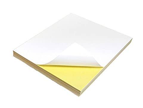 50 Quality A4 White Blank MATTE Self Adhesive sheets /