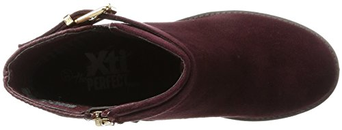 XTI Damen 047226 Stiefel Rot (Burgundy)