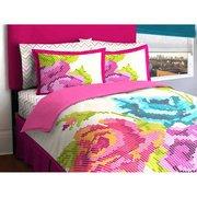 Idea Nuova LOFT Living Pixel Flower Bed in a Bag, Baumwolle, Twin -