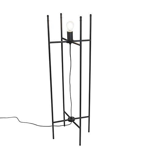 Preisvergleich Produktbild QAZQA Voet voor vloerlamp Fortune zwart / Innenbeleuchtung LED geeignet Max. x Watt