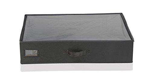 Leifheit 80013 Cajón Pequeño Bajo Cama, Tela, Negro, 16 x 64 x 3 cm