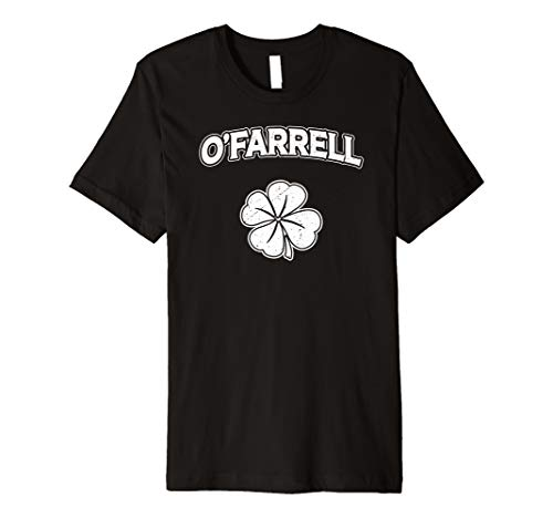 Irish Clover O'Farrell St Patrick's Day Pride Gift T-Shirt