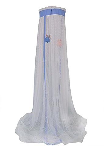 Icegrey Betthimmel Baldachin Kinder Himmelbett Insektenschutz Mückennetz für Kinderbetten Mit Standhalter Himmelstange Schleierhalter Blau