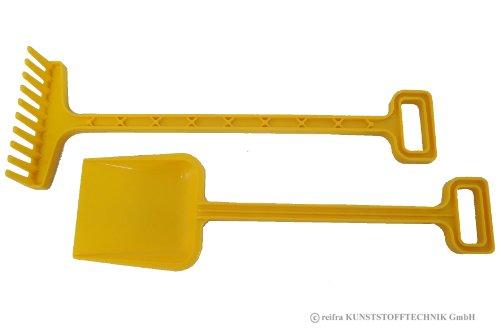 Gartengeräte Set für Kinder Spaten + Rechen gelb