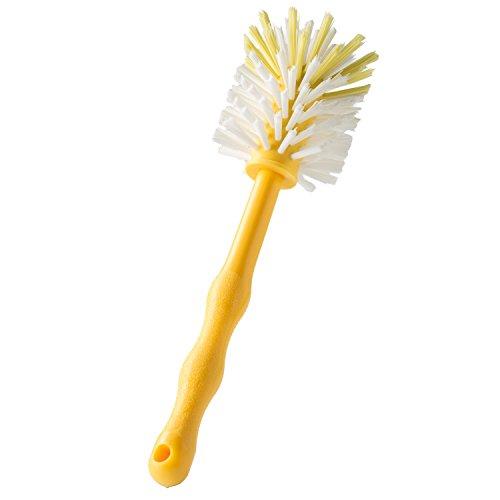 Wundermix Mixtopf-Spülbürste Thermomix, robuste Reinigungs-Bürste Thermomix, Spülbürste zum Aufhängen mit schonenden Nylon-Borsten, Gelb