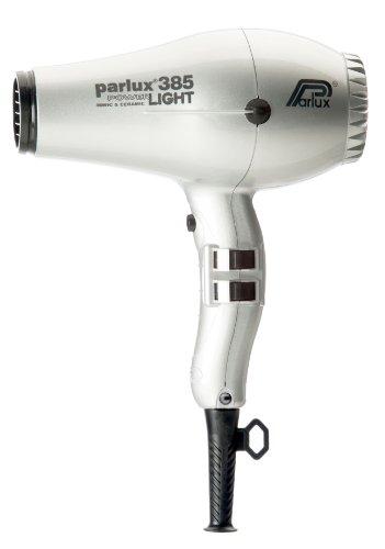 Parlux 385  - Secador iónico de cerámica para el pelo, color plateado, 1 unidad