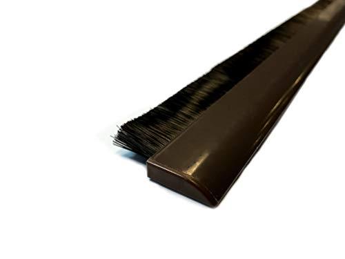 Braun Boden (Türbürste braun Türbürstendichtung selbstklebend für unebene Böden Türdichtschiene höhenverstellbar Bürste, selbstklebend - inkl. automatischer Höhenanpassung)