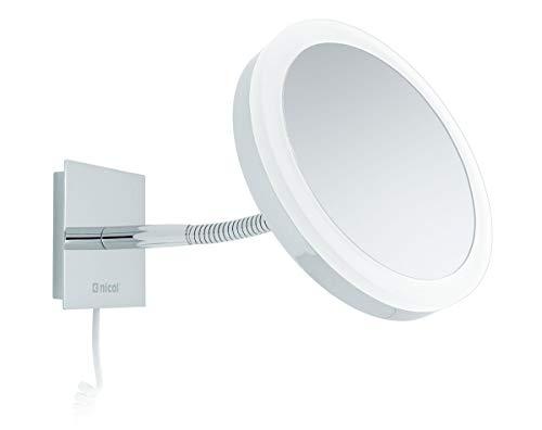 Nicol 4027000 SARA Kosmetikspiegel mit LED-Tageslichbeleuchtung, Wandspiegel 5-fach Vergrößerung...