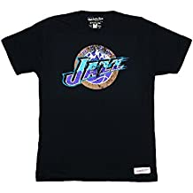 Camiseta de baloncesto de Utah Jazz, color negro, medium