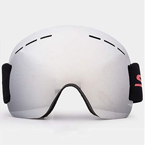 HUIHUAN Skibrille - Rahmenlose, auswechselbare 100% UV400-Schutzbrille für Männer & Frauen & Jugendliche,mercurysheet