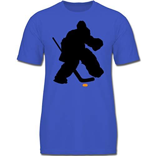 Sport Kind - Eishockeytorwart Towart Eishockey - 116 (5-6 Jahre) - Royalblau - F130K - Jungen Kinder T-Shirt