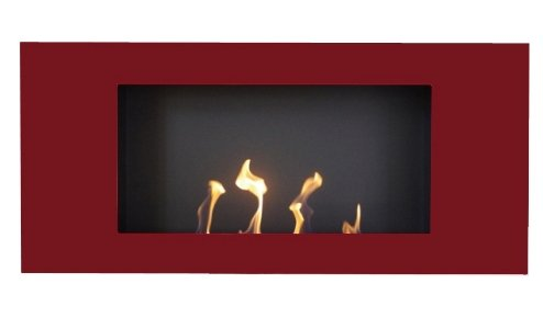 Gel-y-etanol-chimenea-Valencia-XL-Rojo-chimenea-de-pared-chimenea-de-acero-pulverizado