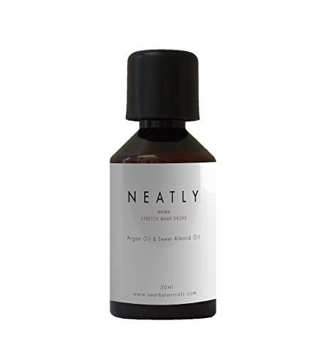 Anti vergeture NEATLY | Soin peau et huile pour le corps | Huile amande douce et huile d'argan 50ml | Alternative à la creme anti vergeture