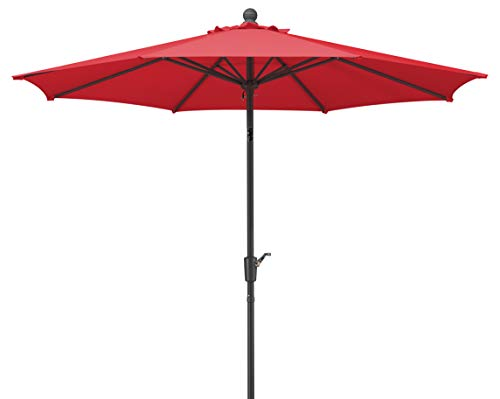Schneider Sonnenschirm Harlem, rot, 270 cm rund, Gestell Aluminium/Stahl, Bespannung Polyester, 5 kg -