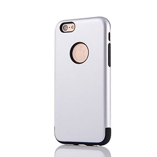 "MOONCASE iPhone 6S Coque, Combo Hybride Dual Layer TPU +PC Etui Antichoc Robuste Housse Protection Armure Case pour iPhone 6 6s 4.7"" Navy Argent"