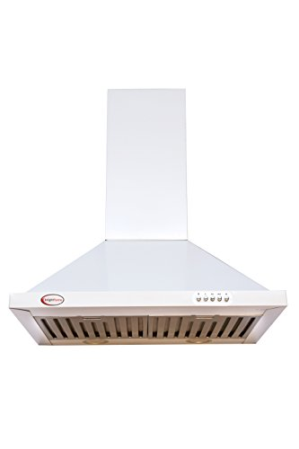 Brightflame Kitchen Chimney - White With 1100 M³ / Hr Suction In 60cm, Lifetime Warranty