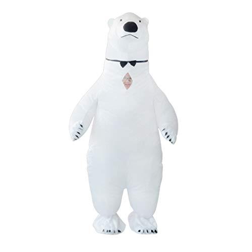 Eisbär Kostüm Aufblasbar - SIREN SUE Aufblasbarer Eisbär-Kostüm für Halloween,