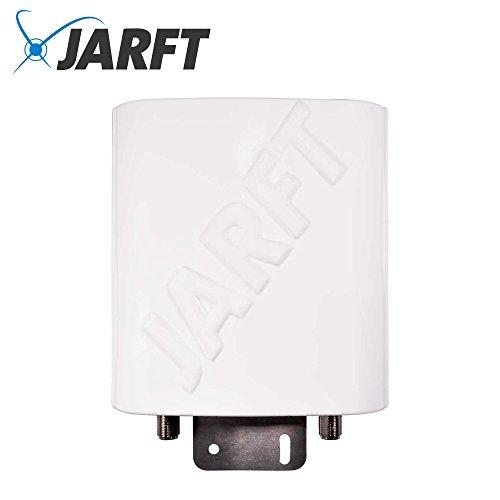 JARFT J4GMB-12-OMOA LTE Rundstrahlantenne inkl. 5m Twin-Kabel mit SMA Stecker | Leistungsstarke Multi-Band 800/1800/2600 MHz LTE / 4G Antenne, 12dBi Leistungsgewinn, Wetterfest
