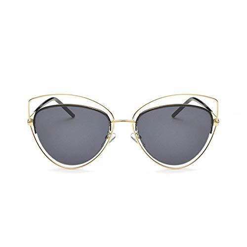 MoHHoM Sonnenbrille Übergroße Spiegel Rosa Sonnenbrille Cat Eye Vintage Sonnenbrille Frauen Weibliche Schattierungen Lady Sonnenbrille Großhandel Gold Grau