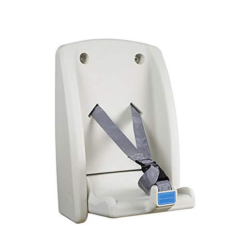 Wickelkommoden Wickeltisch, Klappbarer Kinderessstuhl, Sicherheitssitze for Enge Räume - Wandmontage (Color : White, Size : 31x34.5x51cm)