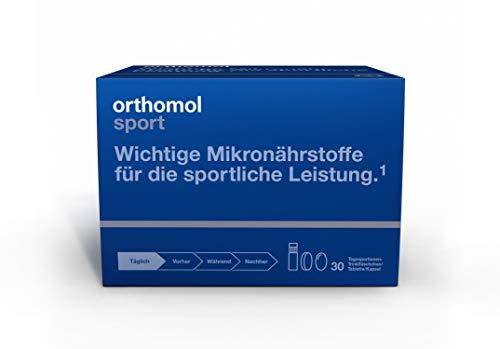 Orthomol Sport Trinkfläschchen, 30 Trinkampullen - Zellschutz, Vitamine & Mineralstoffe in Ampullen mit Tabletten & Kapseln - Nahrungsergänzungsmittel - Hallo Zu Sagen, Wie