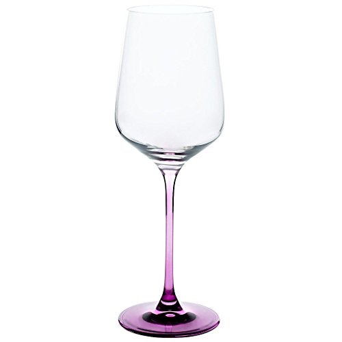 Weinkelch, Weinglas COLORINA 450ml, lila, moderner Style (GERMAN CRYSTAL powered by CRISTALICA)