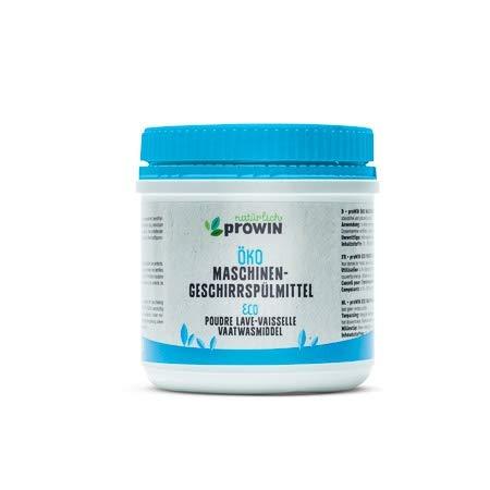 proWin ÖKO MASCHINENGESCHIRRSPÜLMITTEL Umweltschonendes Geschirrspülpulver 500 g natural detergents ECOCERT