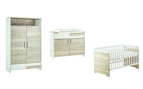 Imagen para Schardt 119522800habitación de los Niños Clou Oak con nevera Cuna, cambiador y armario de 2türigem, Beige