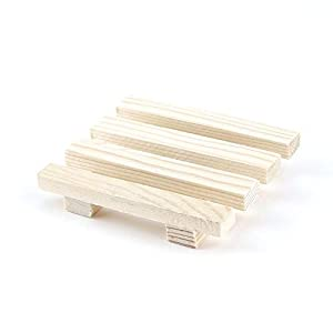 ArgoBa 8 * 7 cm Madera Natural De Madera Jabonera Bandeja de Almacenamiento Soporte de baño Plato de Ducha Bandeja de…