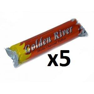 5 Rolls Holzkohle (50 Tabletten) Für Chiacha, Shishas,   Wasserpfeifen - Kohle für Shisha