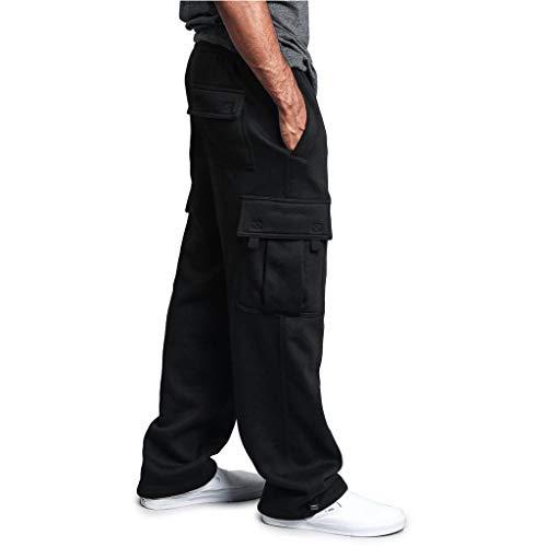 cinnamou Casual Hosen Männer Spleißen Overalls Casual Pocket Sport Work Pants Hose mit weitem Bein Flare-Hose Trainingshose - Ausgestattet Flare-hose