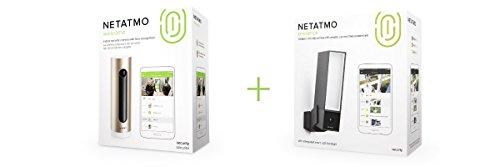 Netatmo Welcome, WLAN Kamera mit Gesichtserkennung, NSC01-EU + Netatmo Presence, Outdoor Sicherheitskamera Variation