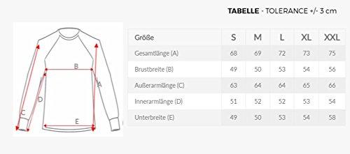 OZONEE Herren Longsleeve mit Motiv Langarmshirt Rundhals Figurbetont Shirt BREEZY 398L Schwarz-Rot_BREEZY-355