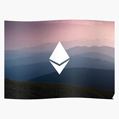 Bitcoin Ethereum Crypto Landscape Meistverkaufte Wandkunst Wohnkultur Showtime Geschenk Poster