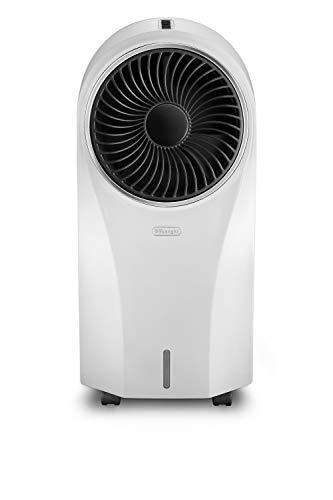 De'longhi EV250.WH - Climatizador evaporativo con ionizador, depósito 6h de autonomía 4,5l, protección ipx4, pantalla led, mando a distancia, refrigeración natural, blanco