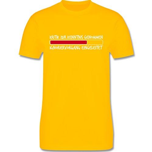 Sprüche - Kritik zur Kenntnis genommen - Herren Premium T-Shirt Gelb
